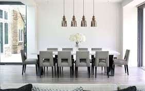 nailhead dining chairs dining room. Nailhead Dining Room Chairs Contemporary With Large Table White Walls Grey Kitchen