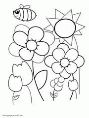 Spring Coloring Sheets Preschool Free Spring Coloring Pages