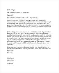 Refernce Letter Template Sample Job Reference Letter Coworker Granitestateartsmarket Com