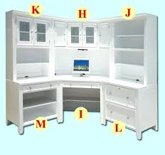 corner white desk area cabinets drawers gorgeous with hutch uk