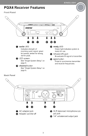 Pgx2a Handheld Wireless Microphone User Manual 27a8878 Book