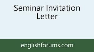 seminar invitation 255935 image