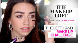 left handed makeup challenge by cartia mallan the makeup loft maybelline new york