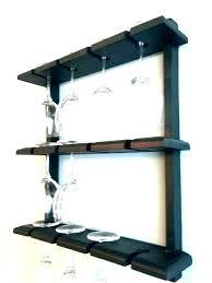 wall mounted stemware racks wall mounted wine glass holder rustic wall mount wine rack with 5