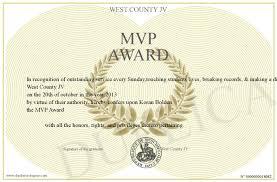 Mvp Award