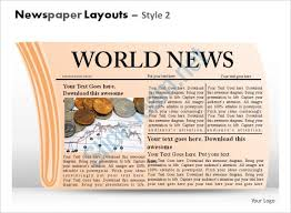 Powerpoint Newspaper Clipping Template Powerpoint Newspaper Template 21 Free Ppt Pptx Potx