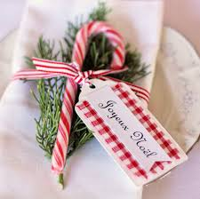 Candy Cane Place Setting with Christmas Message