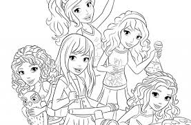 Small Picture Lego Friends Coloring Page Project For Awesome Lego Friends
