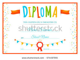 Children Certificate Template Diploma Preschool Certificate Template Download Free Vector Art