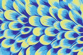 blue flower petals modern fl mosaic by artaic