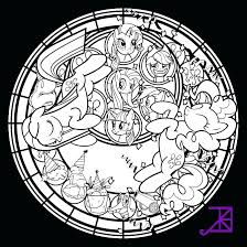 Kingdom Hearts Coloring Pages Stained Glass Printable Coloring