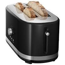 kitchenaid 4 slice toaster. kitchenaid long slot toaster - 4-slice onyx black : toasters best buy canada kitchenaid 4 slice