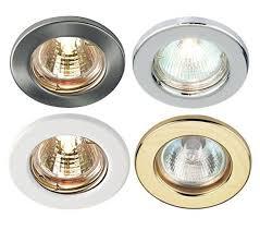lighting spotlights ceiling. mains 240v gu10 led fixed ceiling light spotlights downlights recessed fitting ebay lighting d