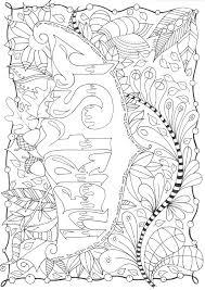 Herfst Autumn Doodle Zentangle Kleurplaten Voor Volwassenen