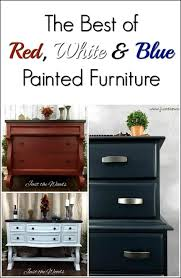 Red White Blue Painted Furniture by Just the Woods