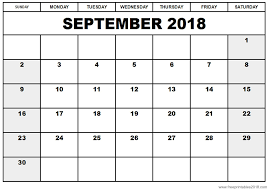 write in calendar 2018 free printable calendar september 2018 free printables 2018