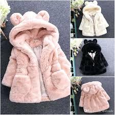 childrens faux fur coats children outwear toddlers girls winter coat baby faux fur fleece lined coat