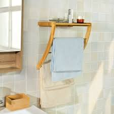bathroom wall mounted bamboo towel 3