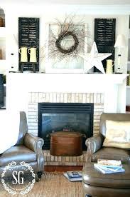 brick fireplace mantel decor red brick fireplace mantel decorating ideas old fireplaces best decor on amazing