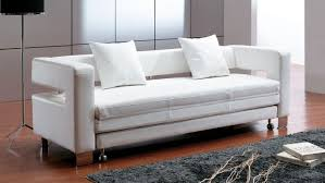 single leather sofa bed white sofa bed white image permalink