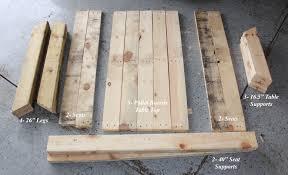 Wood Pallet Table Top Diy Kids Picnic Table From Pallet Wood Diy At Needles And Nails