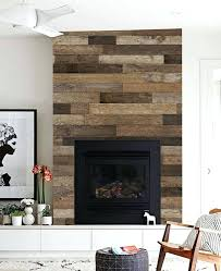 reclaimed wood fireplace distressed surround barn board design planks over ideas mantels houston o79