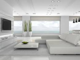 Wonderful Stunning All White Living Room Design With Ideas