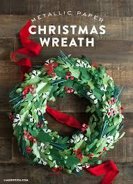 Christmas Paper Flower Wreath Make A Paper Christmas Wreath Lia Griffith