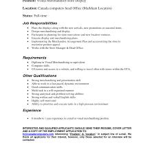 Merchandiser Resume Visual Merchandiser Resume Cover Letter Therpgmovie 91