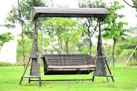 outdoor wicker swing chair weller basket with stand