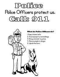 Police Coloring Sheet Free Download
