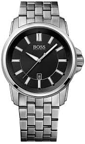 hugo boss black 1513043 mens stainless steel black date watch