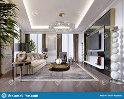 Luxury Tv Stand Design Luxurious Living Room In Modern Style With Sofa Armchair