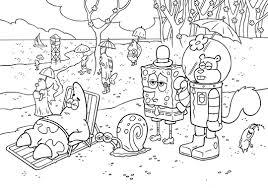 Sponge Bob Squarepants Squidward And Mr Krabs Coloring Pages Free
