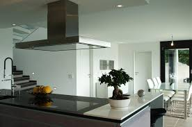 open kitchen designs with island. Amazing Modern Open Kitchen Design With White Table Bar Stools Also Black Granite Countertop Island Behind Stove The To Designs
