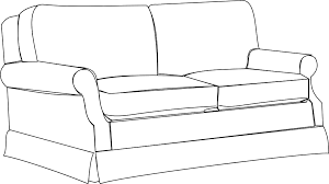couch clipart black and white. Wonderful Couch Sofa Bw Clip Art And Couch Clipart Black White C