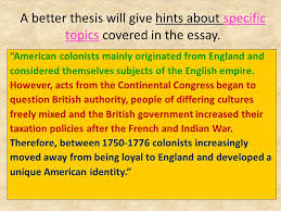 apush dbq american identity during the american revolution a better thesis will give hints about specific topics covered in the essay