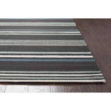 azzura hill dark grey charcoal striped 9 ft x 12 ft indoor outdoor