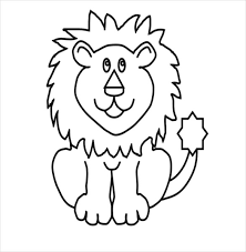 lion drawing template 15 free pdf doents free kids drawing book pdf free