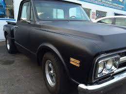 flat black classic chevy truck black