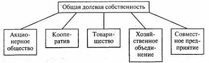Классификация собственности Основы классификации Класс частного  Общая долевая собственность выступает в конкретных формах рис 3 4