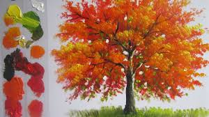 abstract painting of trees how to paint a tree in acrylics lesson 4 you