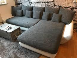 Couch Wohnlandschaft Weißgrau