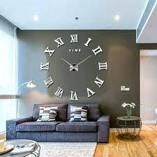 big wall clocks new modern mirror large wall clock surface sticker home office decor unbranded modern big wall clocks