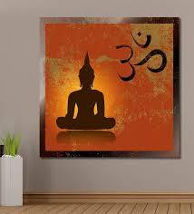 cotton canvas 60 x 0 4 x 60 inch buddha om symbol painting unframed digital art on om symbol wall art with buy cotton canvas 60 x 0 4 x 60 inch buddha om symbol painting