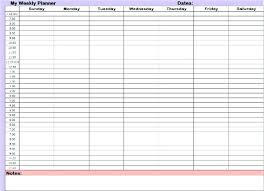 Printable Hourly Weekly Schedule Daily Time Planner Template Printable Hourly Schedule Free Pdf