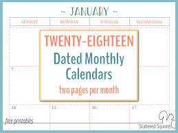 calendar 2018 free printable two page per month 2018 dated calendars are ready