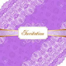 Elegant Vintage Wedding Or Birthday Invitation Template With