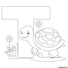 Printable Animal Alphabet Worksheets Letter T