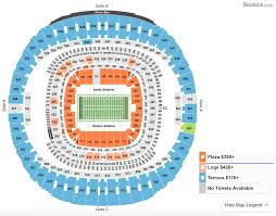 Superdome Seating Chart With Row Numbers How To Find The Cheapest Saints Vs Cowboys Tickets At